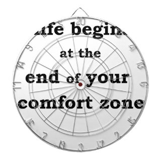 life begins at the end of your comfort zone dart boards