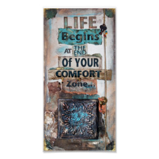 Life Begins Quote Mixed Media | Poster