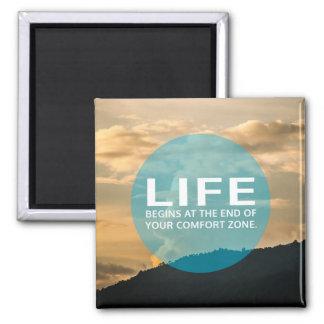 Life Begins Square Magnet
