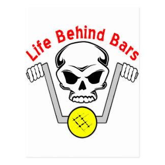 Life Behind Bars Biker Postcard
