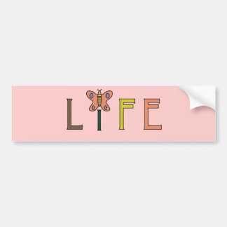 Life Butterfly bumper sticker