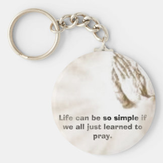 Life can be so simple if we all just learned to pr basic round button key ring