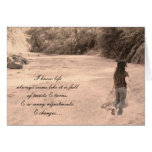 Life can be tough.... greeting card