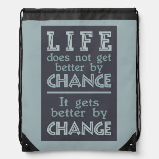 LIFE CHANGE inspirational bag