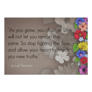 Life Change Inspirational Quote Poster