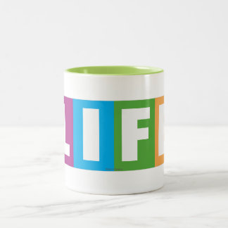 Life Classic Logo Two-Tone Coffee Mug