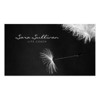 Life Coach Business Card Dandelion Closeup