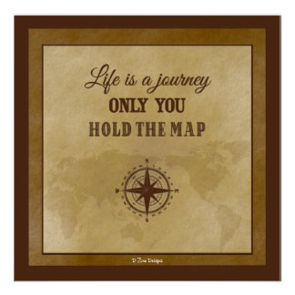 Life Direction Inspirational Spiritual Quote Poster