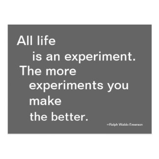 Life Experiment Post Card Quoteable