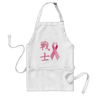 Life - Fighter Kanji - Breast Cancer Ribbon Standard Apron