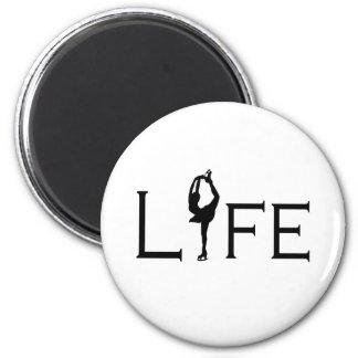 LIFE (Figure Skater) 6 Cm Round Magnet