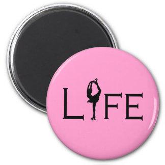 LIFE (Figure Skater) PINK 6 Cm Round Magnet