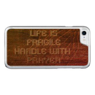 Life Fragile Prayer Carved iPhone 8/7 Case