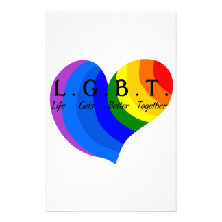 Life Gets Better Together LGBT Pride Customised Stationery