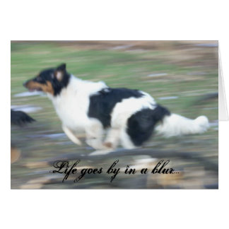 Life goes by in a blur... greeting card