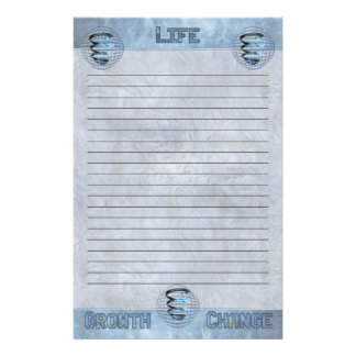 Life Growth Change Cosmic Spiral Lined Customized Stationery