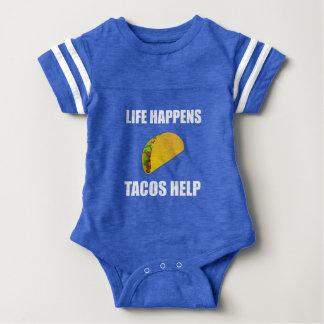 Life Happens Tacos Help Baby Bodysuit