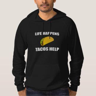 Life Happens Tacos Help Hoodie