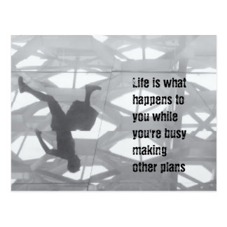 Life happens while you're making plan postcard