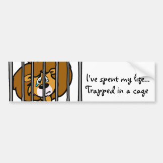Life in Cage Bumper Sticker