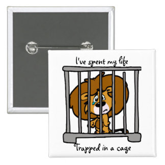 Life in Cage Button