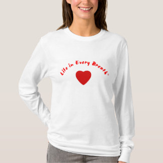 Life in Every Breath Heart Long Sleeve T-Shirt
