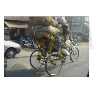 Life in India: Bicycle Rickshaw Card