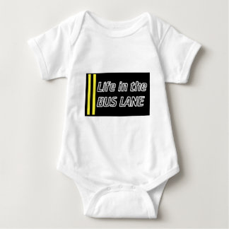 Life in the bus lane baby bodysuit