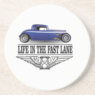 life in the fast lane beverage coasters