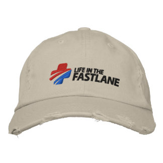 Life in the Fast Lane Cap Embroidered Hat