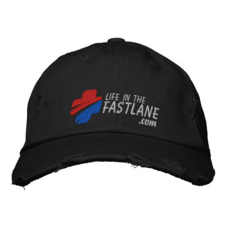 Life in the Fast Lane Hat (Dark) Embroidered Hat