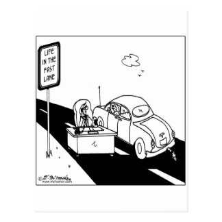 Life in the Fast Lane Postcard