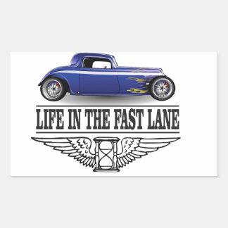 life in the fast lane rectangular sticker