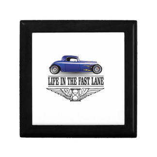 life in the fast lane small square gift box