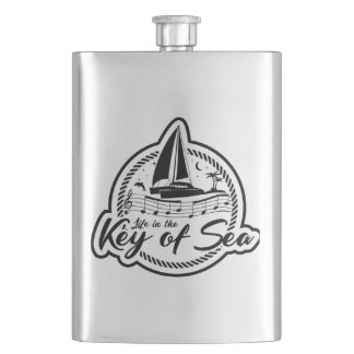 Life In The Key of Sea Hip Flask
