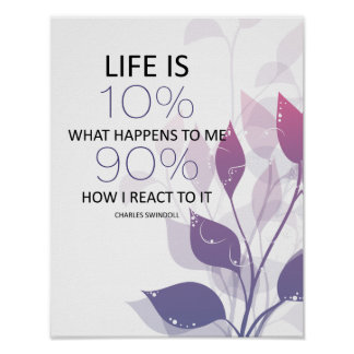 Life Is 90 Percent How I Respond MotivationalQuote Poster