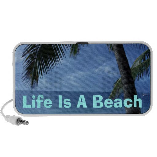 Life Is A Beach Doodle Mp3 Speakers