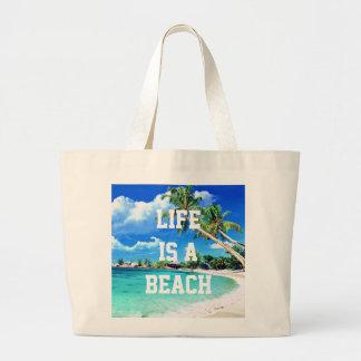 Life Is A Beach Jumbo Tote