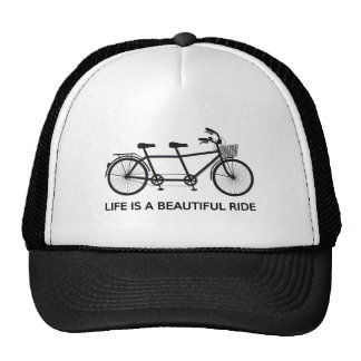Life is a beautiful ride, tandem bicycle cap