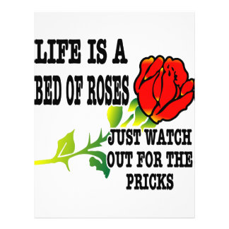 Life Is A Bed Of Roses Watch Out For The Pricks 21.5 Cm X 28 Cm Flyer