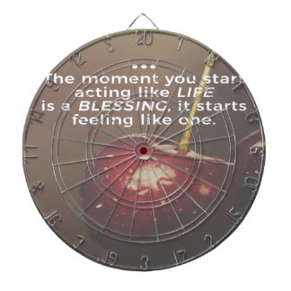 Life Is A Blessing Dartboard