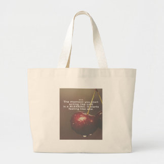 Life Is A Blessing Large Tote Bag