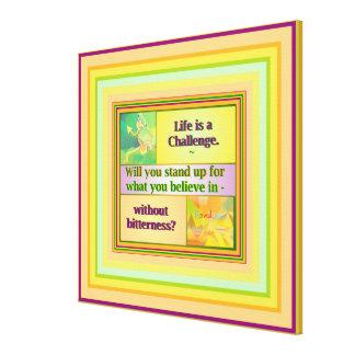 Life is a Challenge Inspiration, medium Canvas Print