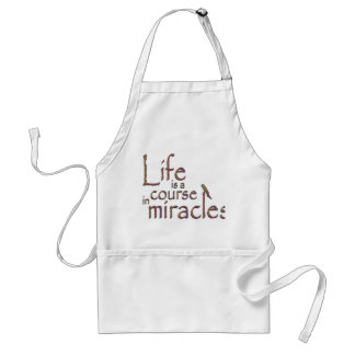 Life is a course in miracles adult apron