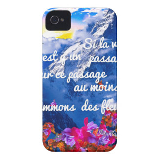 Life is a crossing with flowers iPhone 4 Case-Mate cases