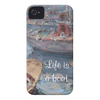 Life is a Fish Boat Oil Painting iPhone 4 Covers