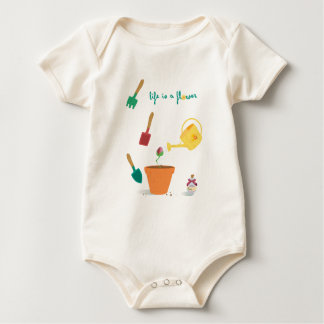 Life is a flower for baby baby bodysuit