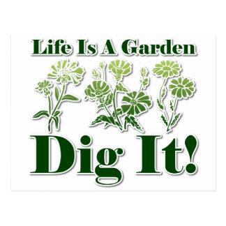Life is a Garden Postcard