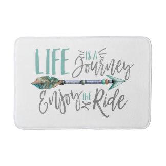 Life is a Journey Enjoy the Ride Boho Wanderlust Bath Mat