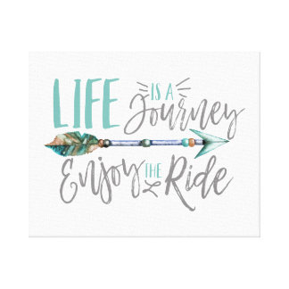 Life is a Journey Enjoy the Ride Boho Wanderlust Canvas Print